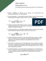 Procedimento de Cálculo - Modelo Capacitivo e Bilinear
