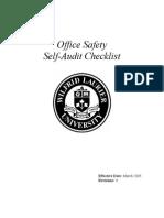 Office Self-Audit Checklist Mar 05