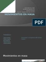 Movimientos en Masa Geotecnia