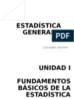 Unidad I, II y III Estadistica General