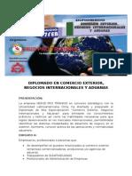 Diplomado Comercio Exterior, Negocios Internacionales y Aduanas