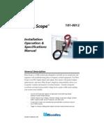 101 0012 Pulse Scope Manual