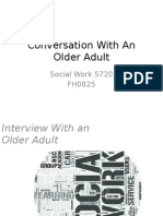 conversation with an older adult