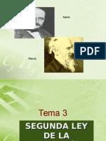 TEMA 3 - Segunda y Tercera Leyes de La Termodinamica