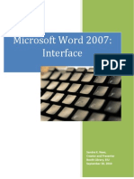 Word 2007 Interface