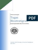 Biostratigrafi table