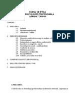 CODUL DE ETICA SI DEONTOLOGIE PROFESIONALA A MEDIATORILOR