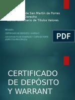 WARRANT Y CERTIFICADO DE DEPOSITO