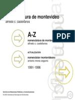 Alfredo Castellanos & Antonio Mena Segarra - Nomenclatura de Montevideo