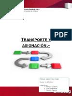 Transporte y Asignación Trabajo