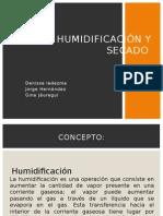 Humidificación y Secado