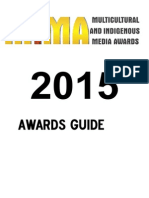 2015 Multicultural Indigenous Media Awards -Awards Guide