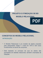 Projeto e Otimização de Banco de Dados Aula 01
