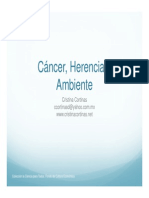 Cancer Herencia y Ambiente
