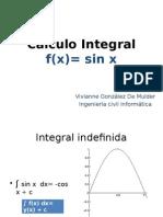calculo integral f(x)=sin x
