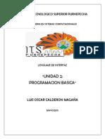 UNIDAD 2 LENGUAJE DE INTERFAZ