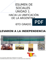 Hacia La Unificacion de La Argentina. Resumen