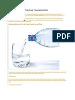 Manfaat Minum Air Putih Bagi Tubuh Untuk Diet
