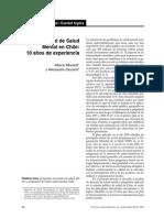 Plan Nac Salud Mental en Chile 10 Años