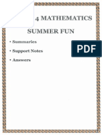 answers for grade 4 summer homework fun