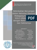 Keterkaitan Keruangan Dalam Aktivitas Ekonomi PKL Solo Grand Mall Dengan Wilayah Sekitarnya