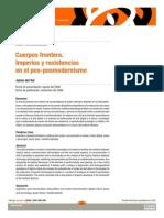 Cuerpos Frontera. Imperios y Resistencias en El Pos Posmodernismo