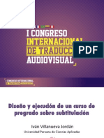 Diseño y ejecución de un taller de subtitulación en pregrado