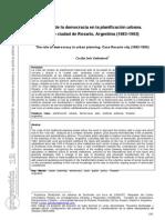 El Rol de la democracia en la planificación urbana. El caso Rosario, Argentina.Cecilia Galimberti