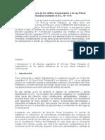 Análisis Sistémico de Los Delitos Incorporados a La Ley Penal Tributaria