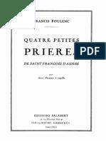 IMSLP309565-PMLP500340-Poulenc F - Quatre Petites Pri Res de Saint-Fran Ois d Assise