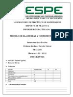 MÓDULO DE ELASTICIDAD Y COEFICIENTE DE POISSON