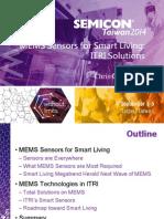 Mems Sensors for Smart Living Itri Solutions Itri 0 091514DL