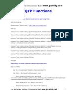 QTP Procedures