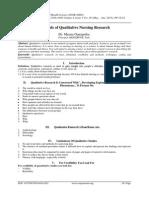 Methods of Qualitative Nursing Research