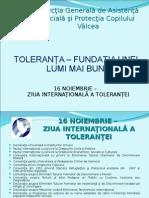 16 Noiembrie - Ziua Internationala a Tolerantei