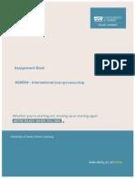 6GN504 - International Entrepreneurship 2014-15(1)