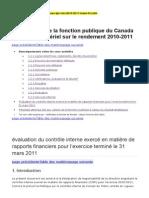Évaluation Du Contrôle Interne Exercé en Matière de Rapports Financiers