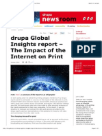 Global Insights Report – the Impact of the Internet on Print