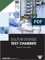 So2 Sulfur Dioxide Test Chamber