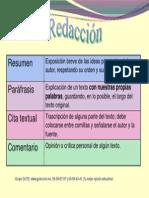 Resumen, Paráfrasis, Cita Textual y Comentario