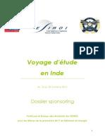 ESIROI / Dossier Sponsoring Inde