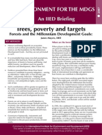Trees, poverty, and targets