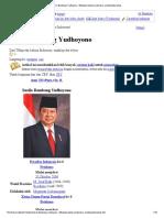 Susilo Bambang Yudhoyono Wikipedia Bahasa Indonesia Ensiklopedia Bebas
