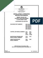 FA2100 CVR Install Manual