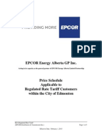 February 2015 Price Schedule - EPCOR Power