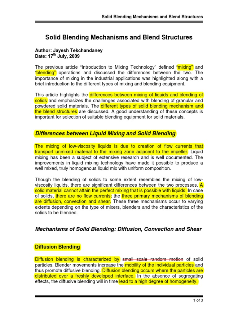 Solid Blending Mechanisms and Blend Structures pdf