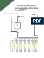 Ajustes de Balances Metalúrgicos - Circuito Molienda