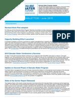 Danube Water Program Newsletter June 3 2015