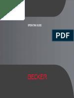 Manual Becker BE V1 En
