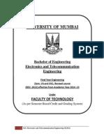 BE EXTC Syllabus Mumbai Univ R2012
